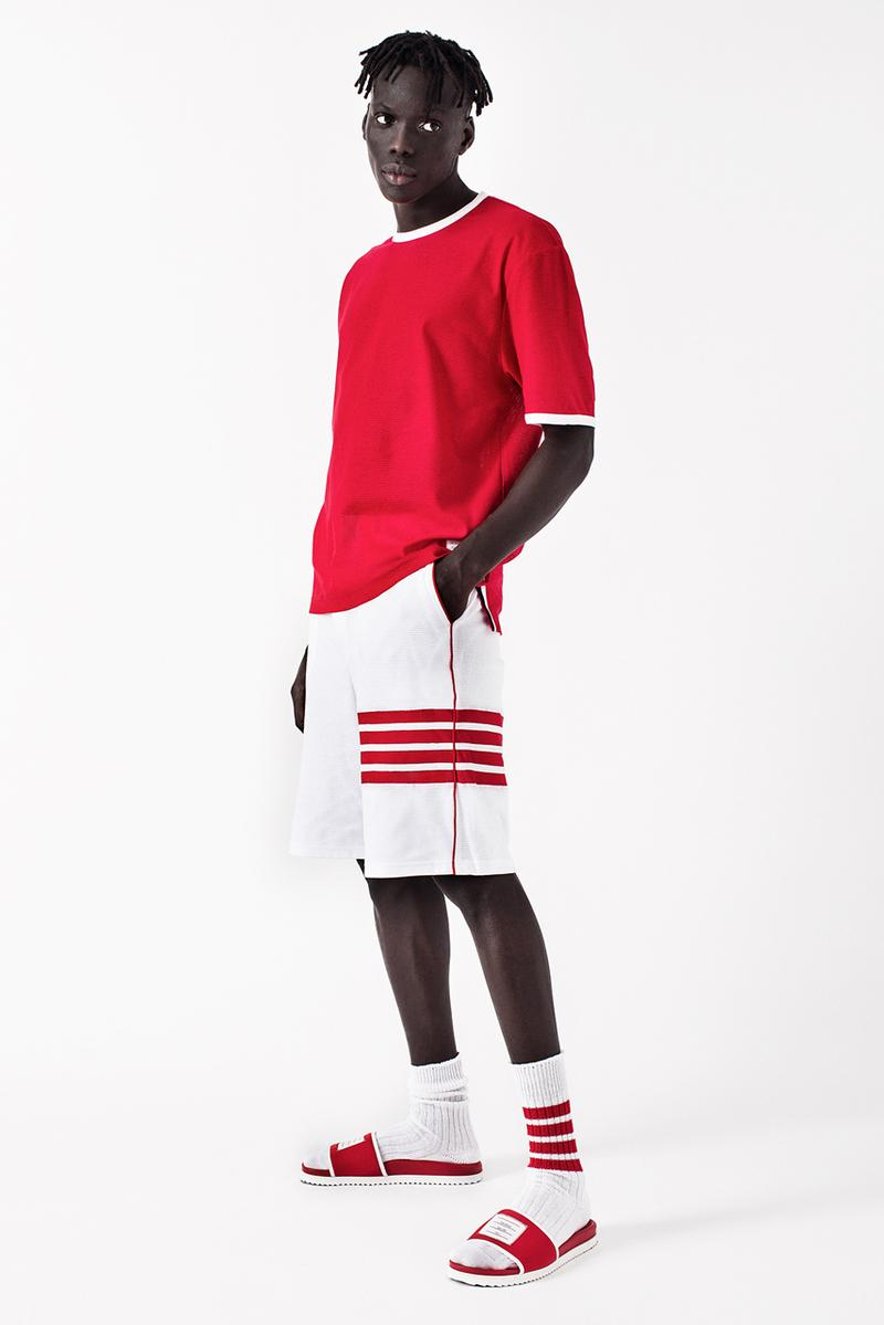 UNKNWN Wynwood x Thom Browne Capsule Collaboration lookbook lebron james collection menswear tee shirt polo hoodie slide sandals socks shorts mesh miami exclusive drop release date info december 13 2019 buy