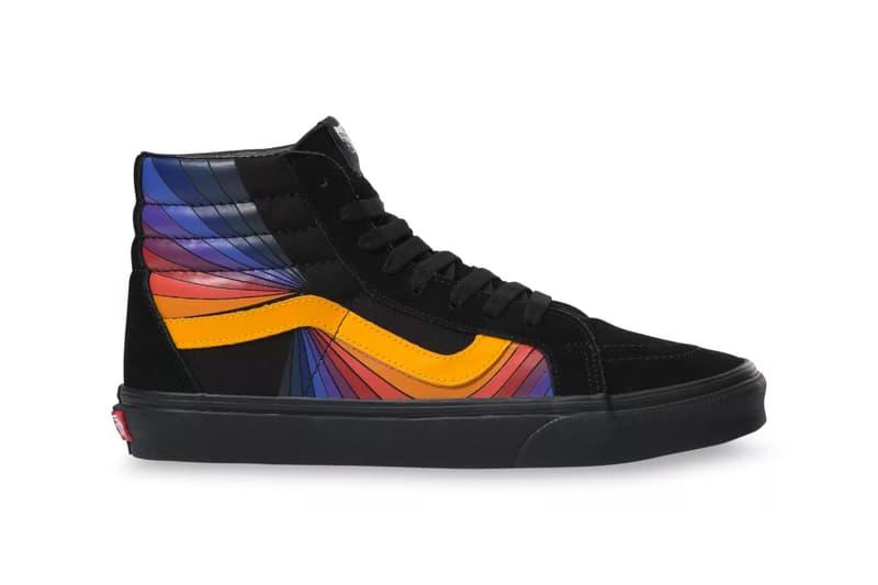 vans sk8 hi refract pack psychedelic colorways reissue vintage retro sneakers shoes