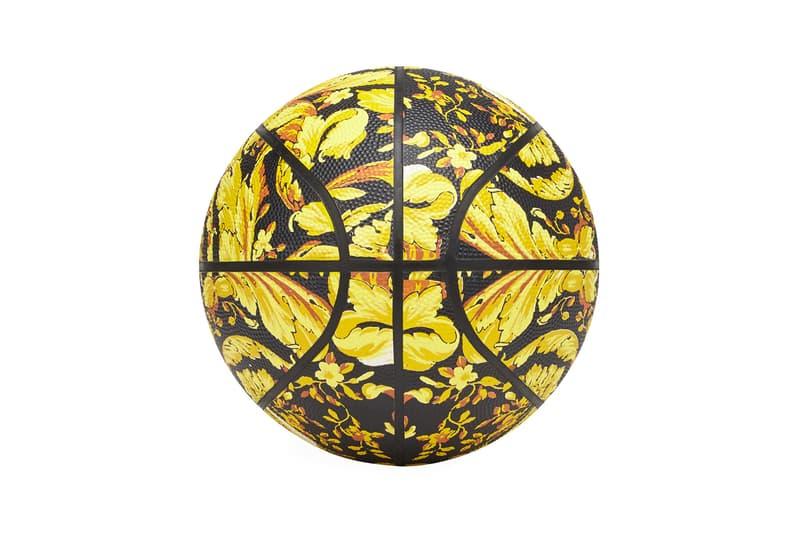 versace barocco print basketball football soccer ball black gold baroque printed