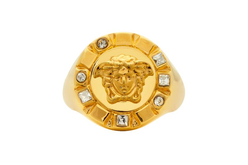 Versace Gold Palazzo Crystal Medusa Round Ring Release Info Date Buy