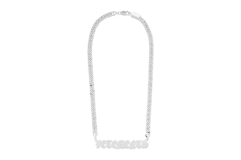 Vetements Gothic Logo Necklace Release Info Buy Price Gold Silver SSENSE