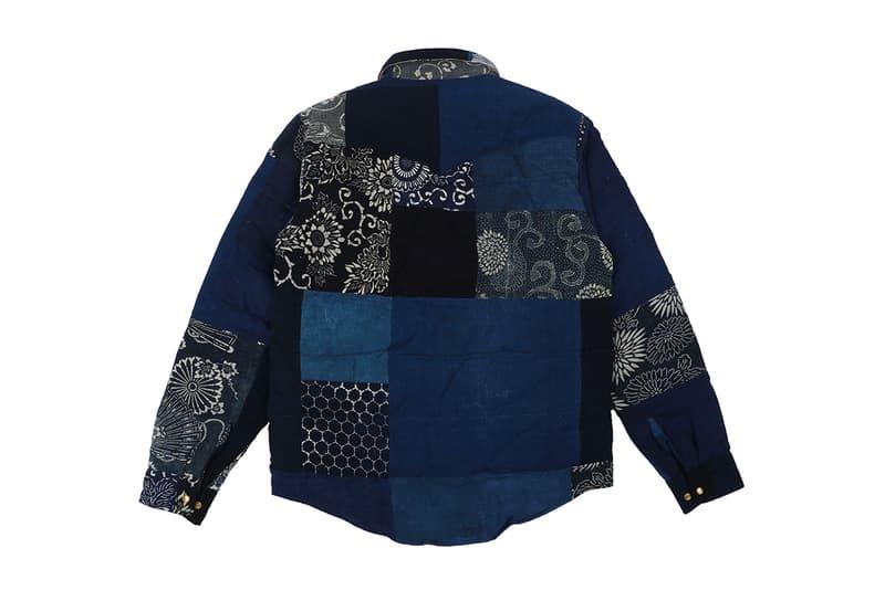visvim Indigo Kerchief Kofu Down Jacket fall winter 2019 Native Americana vintage Japanese fabric handkerchief bandana print mud dye one wash outerwear shirt goose down fill