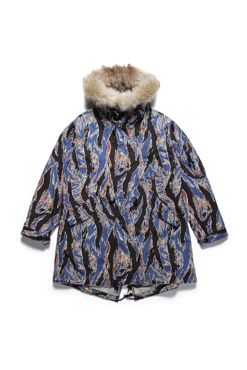 WACKO MARIA Tiger Camo Mods Parka Coat outerwear floral fall winter 2019 collection japanese paradise tokyo guilty parties tengoku tokyo layers streetwear menswear atsuhiko mori
