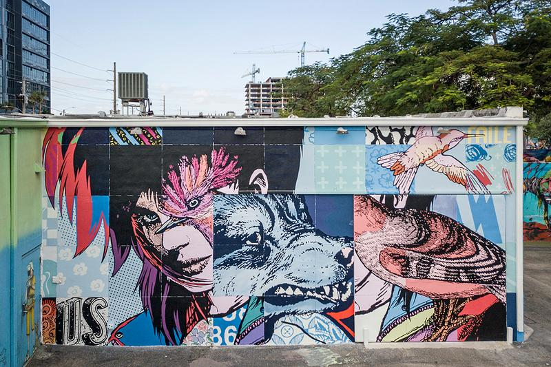 Wynwood Walls GGA Gallery Retrospective Show art basil miami warehouse district graffiti mural art el seed faile kobra london police okuda pichiavo ron english shepard fairey vhils indoor outdoor exhibition