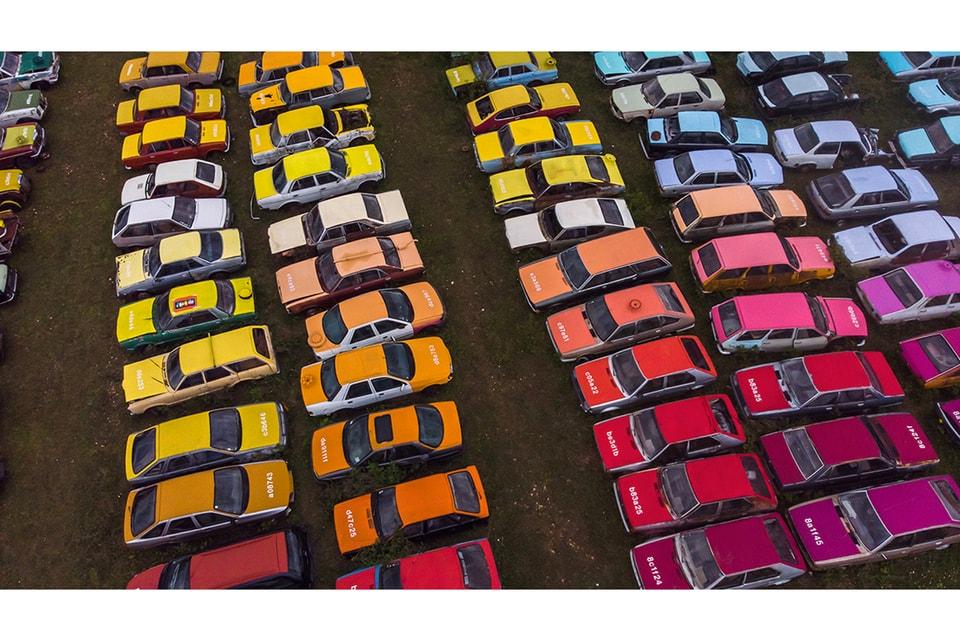 "Zoer's ""Solara"" Adds Pops of Color to Car Scrapyard"