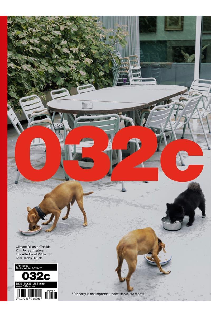 '032c Magazine Issue 37' Kim Jones Intervista al catalogo del buco nero dior men presentano una casa all'interno di un look di interni che pubblica la collezione