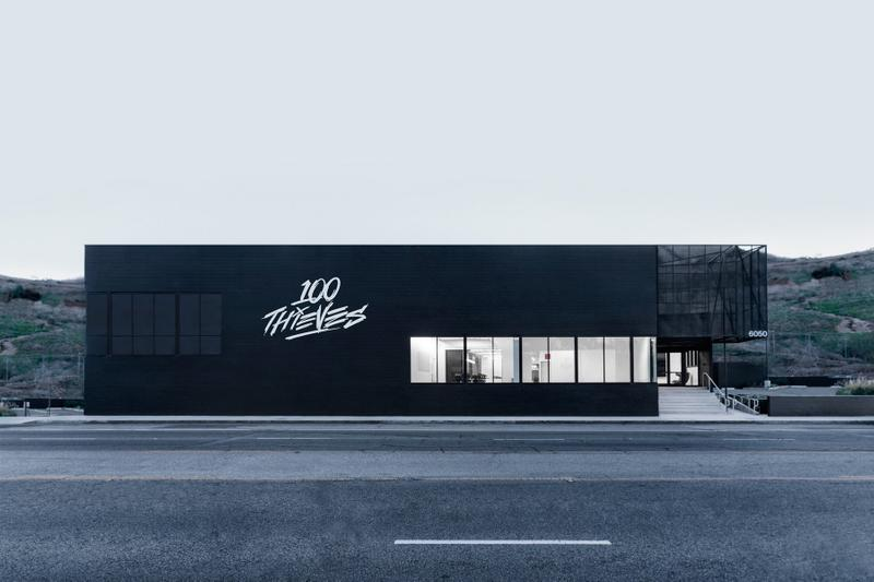 Inside 100 Thieves' New LA Headquarters hq drake scooter braun design esports