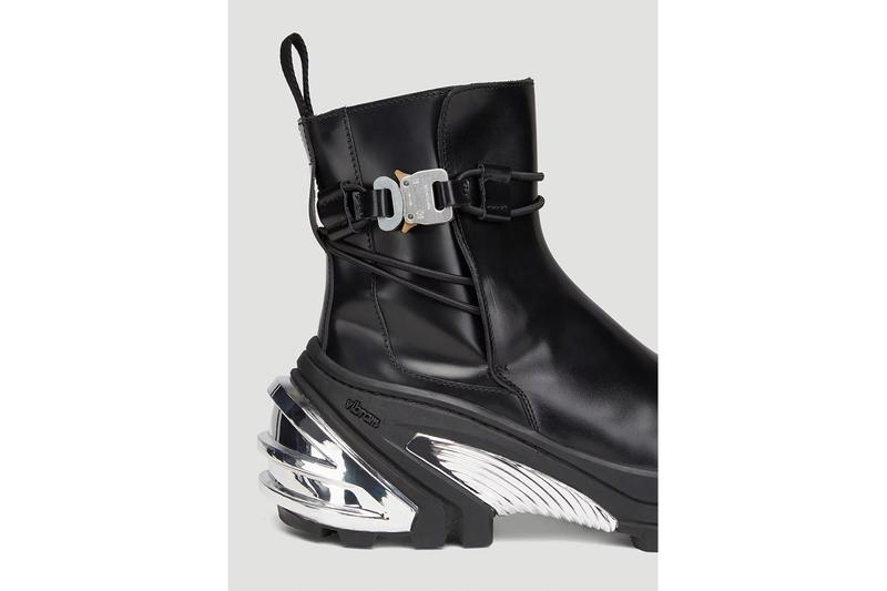 1017 ALYX 9SM Low Buckle Boots in Black Release Information Matthew M. Williams Spring Summer 2020 SS20 Reveal First Look Vibram Hardware Straps Lacing Technical Leather Rollercoaster Belt Clasp