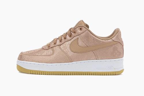 "CLOT x Nike Air Force 1 ""Rose Gold Silk"""