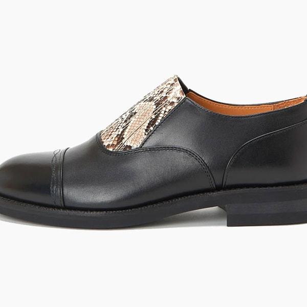 Hender Scheme Python Leather Slip-Ons