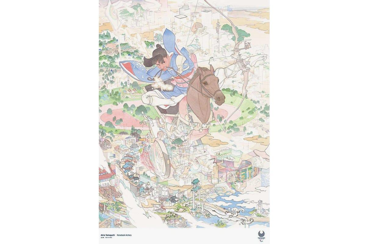 TOKYO Paralympics 2020 Official Art Poster by JoJo/'s Bizarre Adventure author