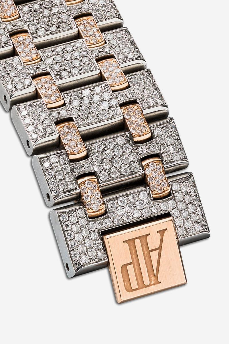 777 18K Rose Gold Audemars Piguet Royal Oak Diamond Watch Release Info Buy Price Browns