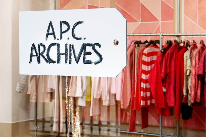 "A.P.C. ""ARCHIVES"" Exhibition Joyce Gallery in Paris Closer Look Preview Parisian Label Clothing Garments Jessica Ogden Quilts Fashion Jean Touitou Founder Café Opening Dates"