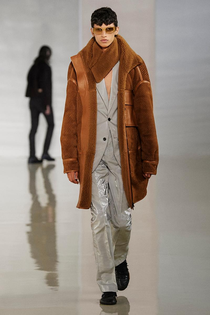 Acne Studios Fall Winter 2020 Collection Runway Paris Fashion Week Scandinavian minimalism co ed mens womens gender fluid cream color shades leather sweden Johnny Johansson