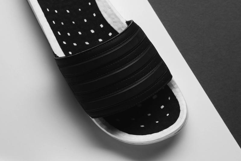 adidas adilette boost slide sandal cloud white core black EG1910 release date info photos price