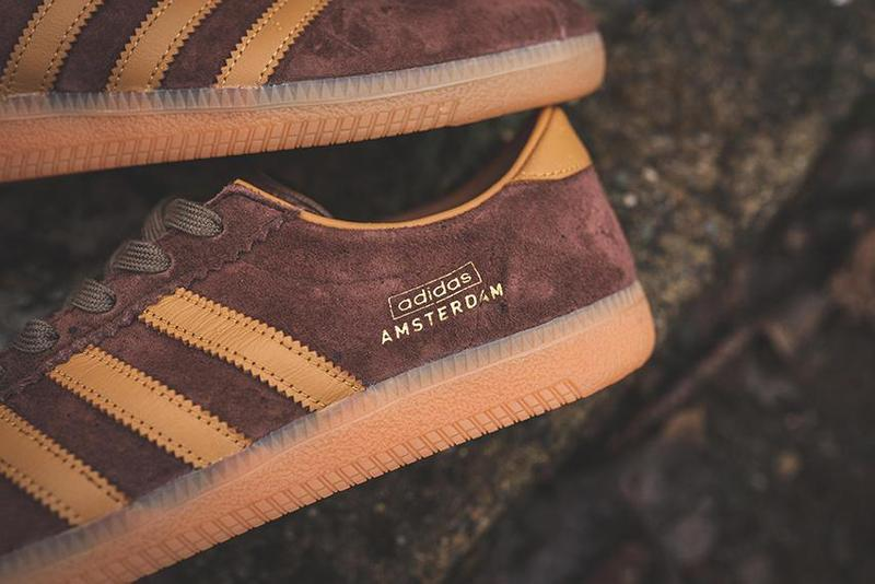"adidas Originals Amsterdam ""City Series"" Release Information ""DUSRUS/BROWN/MESA"" EF5791 Classic Footwear Sneaker Three Stripes Suede Trefoil Gum Sole 1990"