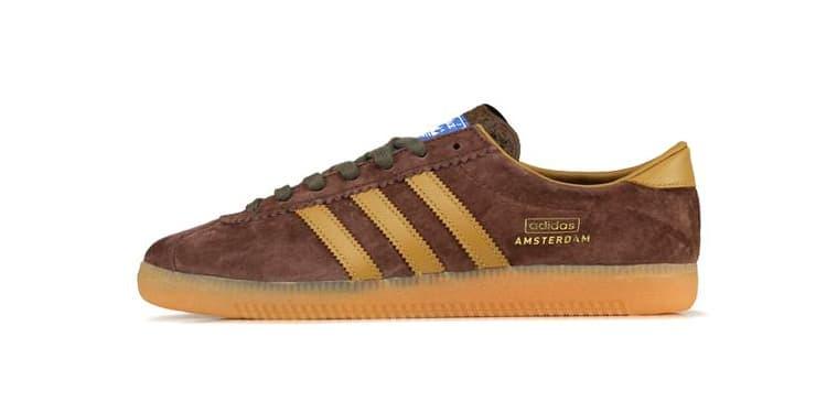 "adidas Originals Amsterdam ""City Series"" Release Information ""DUSRUS/BROWN/MESA"" EF5791 Classic Footwear Sneaker Three Stripes Suede Trefoil Gum Sole 1990"