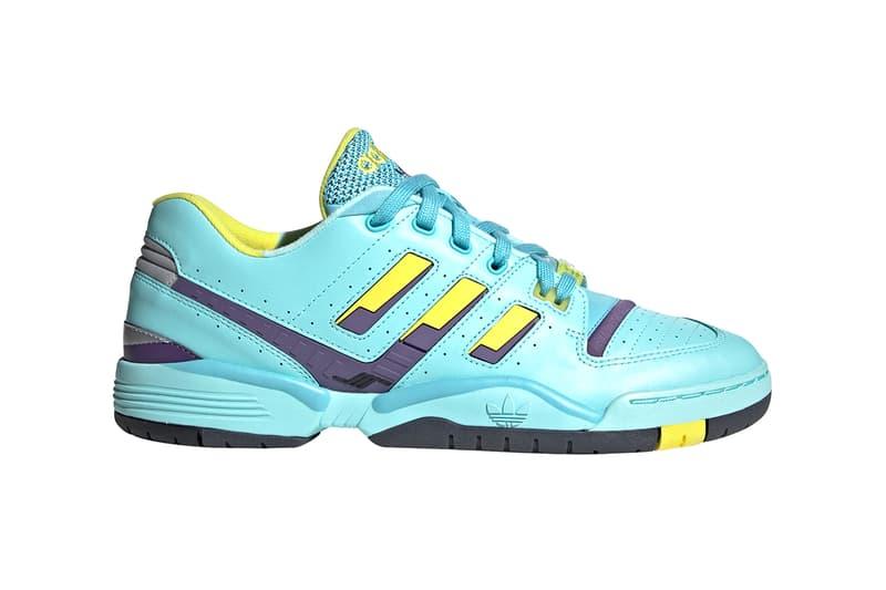 "adidas Originals Torsion Comp ""Aqua"" Release Information Cop Online Drop Dates Sneakers Three Stripes ZX8000 OG Colorway Blue Yellow Purple Black Leather Tennis FootwearT Torsion Bar EVA"