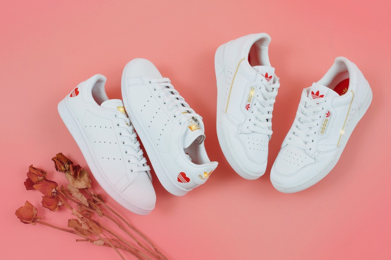 adidas stan smith heart red