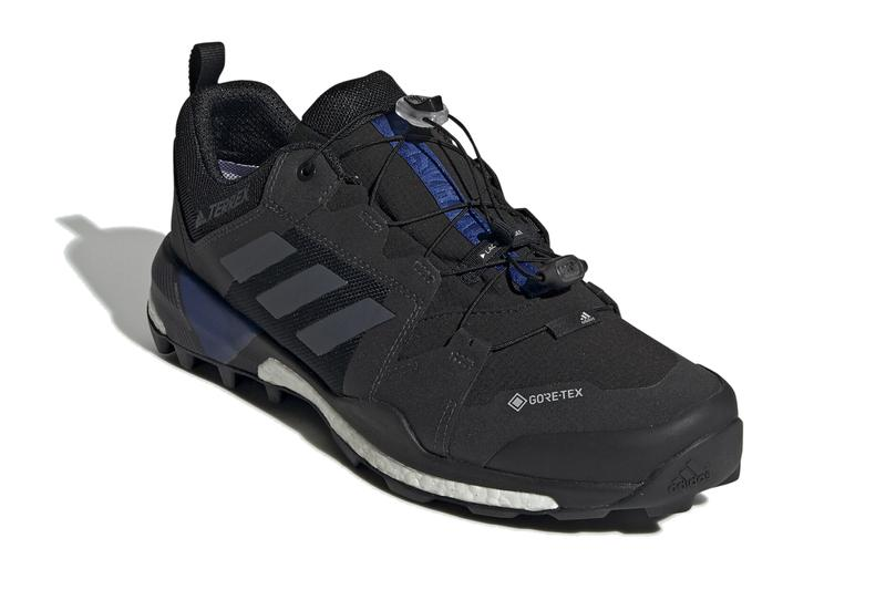 adidas terrex skychaser xt gore tex hiking shoes boost core black grey three collegiate royal G26546 release date info photos price sneaker colorway trail