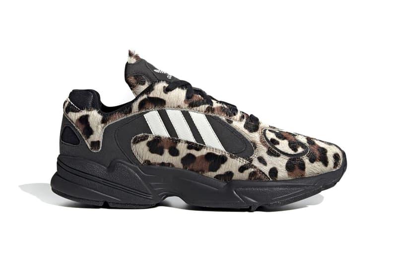 adidas Yung 1 Core Black Simple Brown off white sneakers shoes footwear runners trainers kicks cheetah pony hair spring summer 2020 originals eg8726 print pattern three stripes