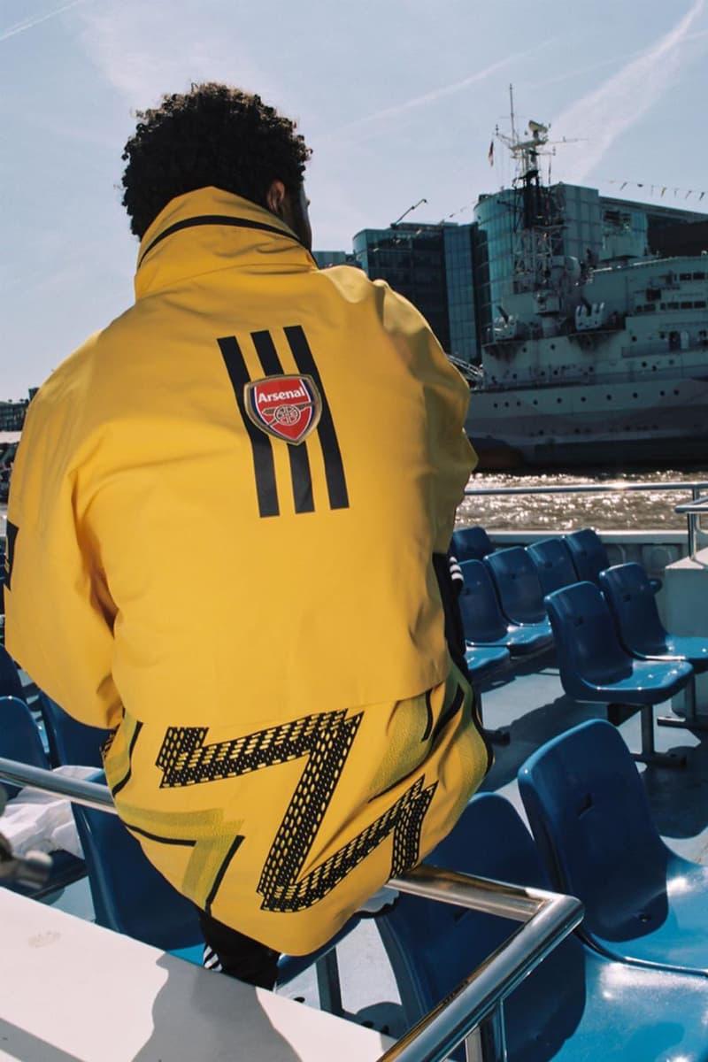 Ahluwalia Studio x adidas x Arsenal MyShelter Jacket bruised banana kit black golden yellow red zig zap football soccer london