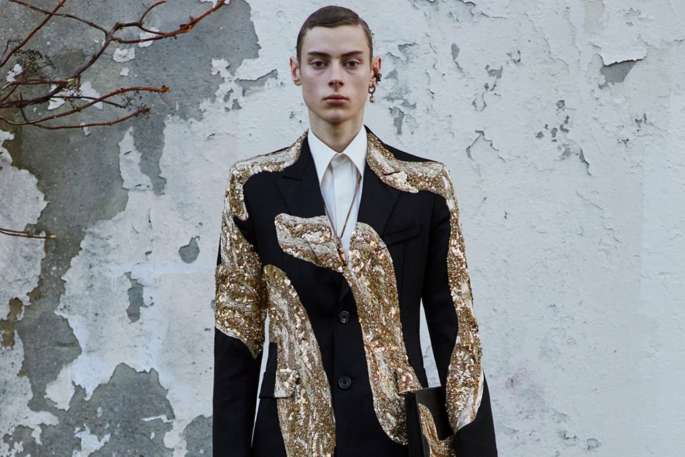 Alexander McQueen Draws From Art Nouveua, Henry Moore & British Landscapes for FW20