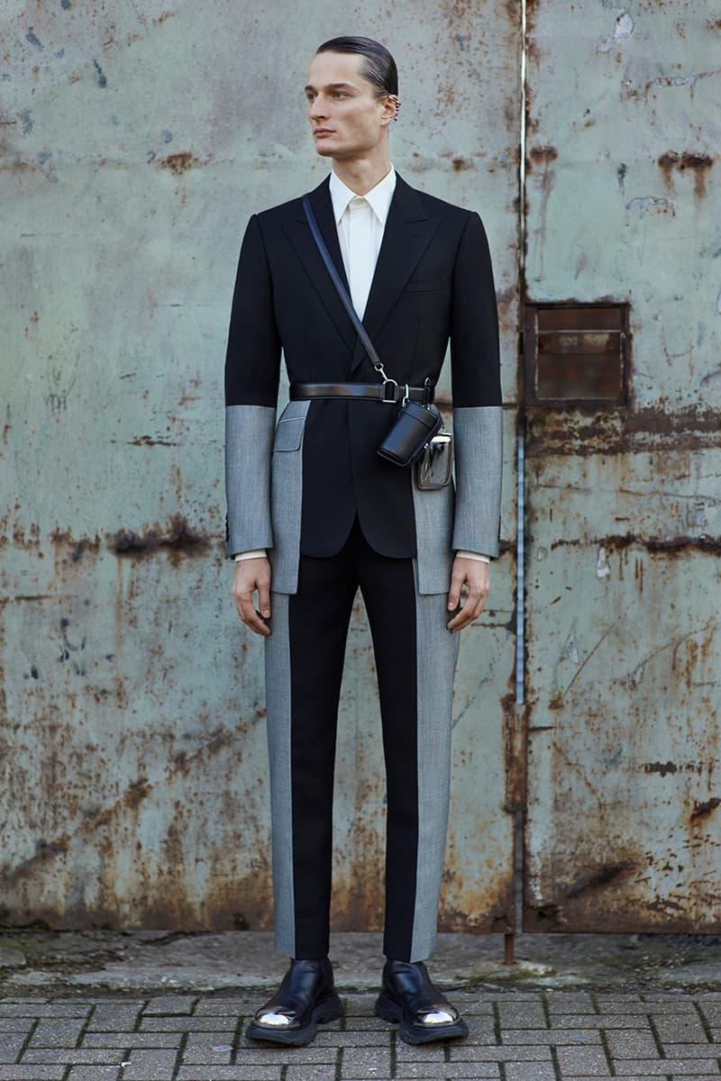 Alexander McQueen Fall/Winter 2020 Menswear Lookbook Collection Sarah Burton Creative Director Double-breasted overcoats Tailoring Military Coats Jackets Milan Fashion Week