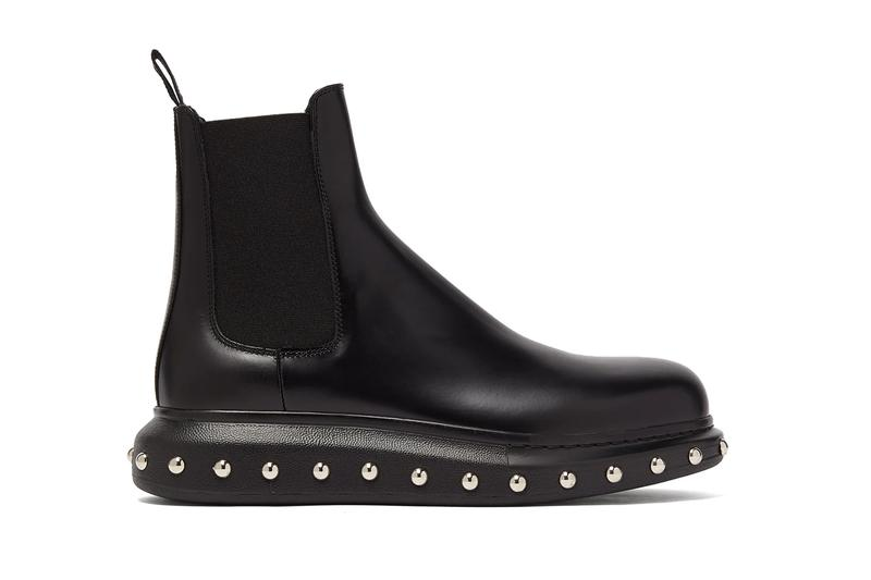 Alexander McQueen Studded Leather Chelsea Boots footwear boots shoes style MCq