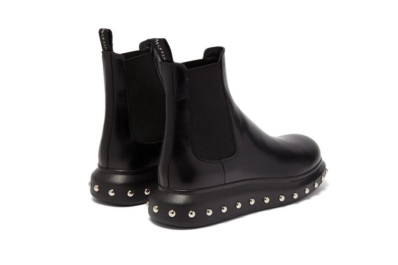 Alexander McQueen Studded Leather Chelsea Boots Release Where to buy Price 2020