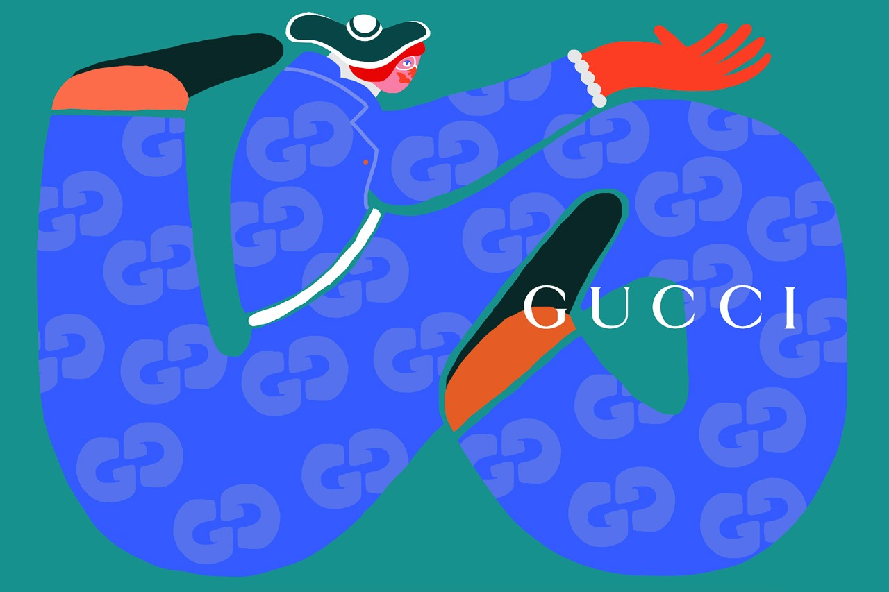 Amber Vittoria Graphic Digital Illustrator Female Forms Women Colorful gucci adidas k swiss le bon marche