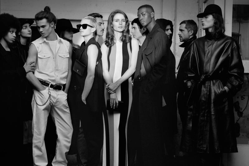 AMI Spring Summer 2020 campaign Lookbook collection paris french ami alexandre mattiussi essentials basics coats jackets leather theater black and white photography spotlight shirts dress pants