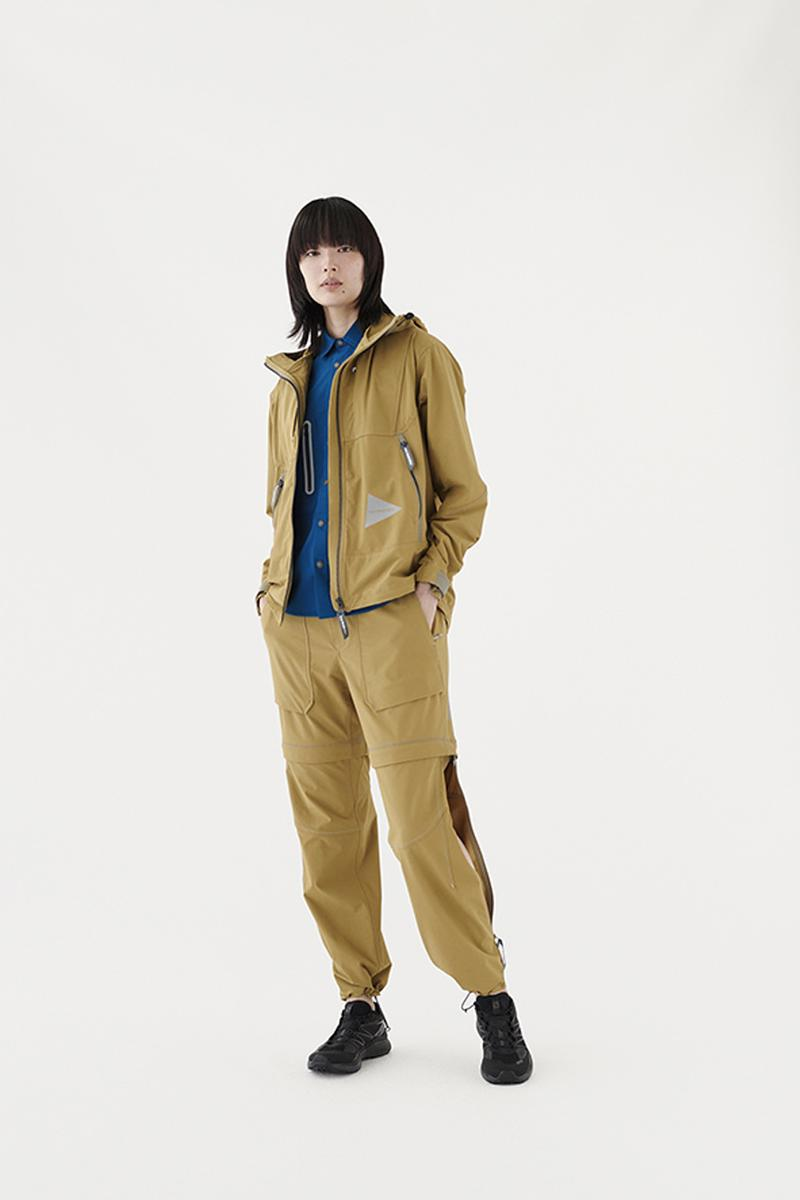and WANDER Spring Summer 2020 Lookbook collection japanese Keita Ikeuchi Mihoko Mori technical hi tech functional utility progressive breathable waterproof jackets coats windbreakers