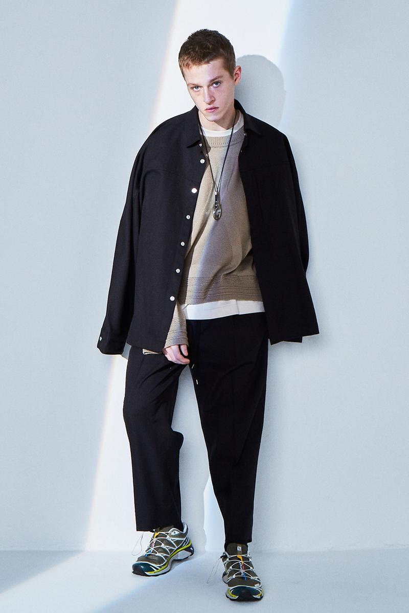 ANEI Fall/Winter 2020 Lookbook Collection Jackets Coats Trousers Blazers Knitwear T-shirts Shirts Black Blue White Gray Brown White Dresses Burnt Orange Scarves Yellow Green Bags