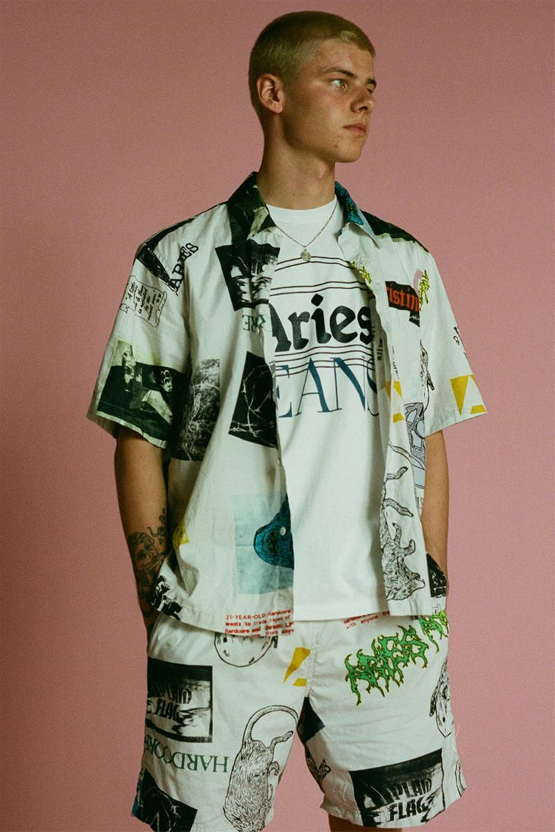 aries arise spring summer 2020 sofia prantera release information collection buy cop purchase hoodie jeans denim t-shirt tie dye tracksuits french graphics aidan cushway jake bisley