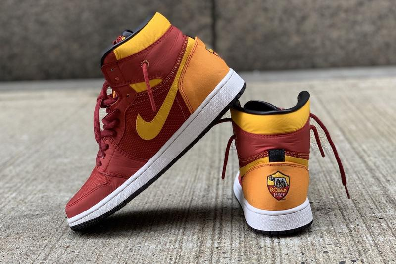 AS Roma Is Giving Away Custom Air Jordan 1 Mids sneakers football collaborations red yellow gold new york Philadelphia