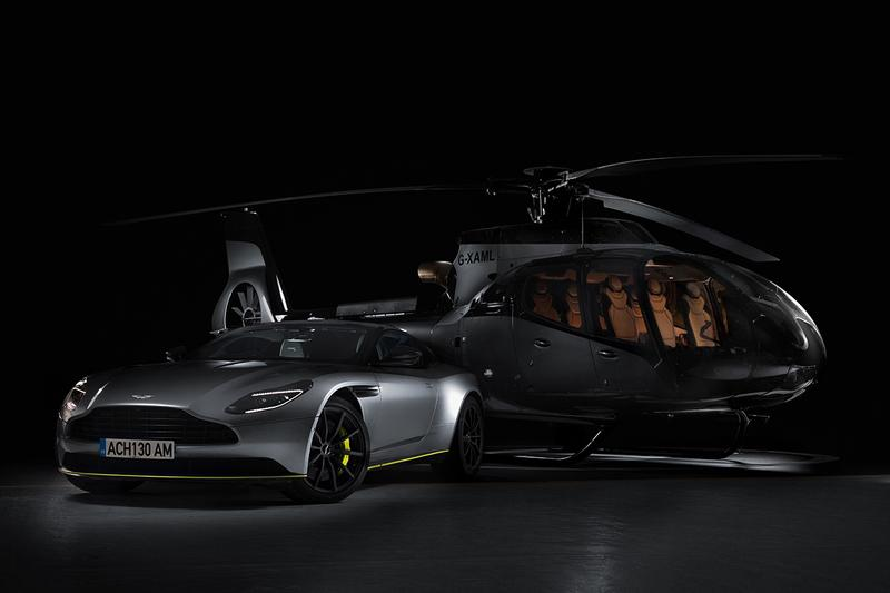 Aston Martin x Airbus ACH130 Helicopter Revealed First Look Collaboration Announcement Automotive Aviation Design Limited Edition Courchevel French Alps