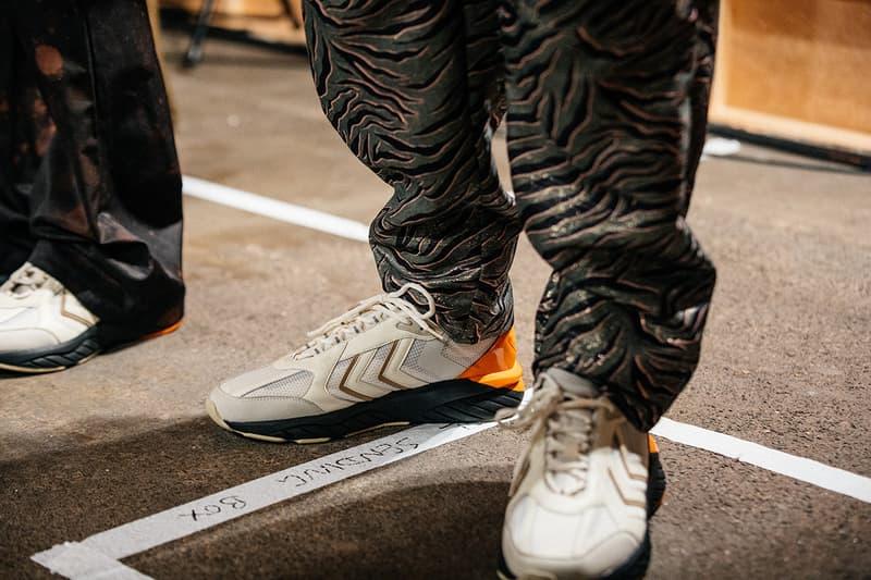 Astrid Andersen x hummel REACH LX London Fashion Week: Men's Fall/Winter 2020 FW20 Menswear Collaborative Sneaker Release Information Drop Backstage Shots Runway On Foot Danish Handball Heritage Vintage Design