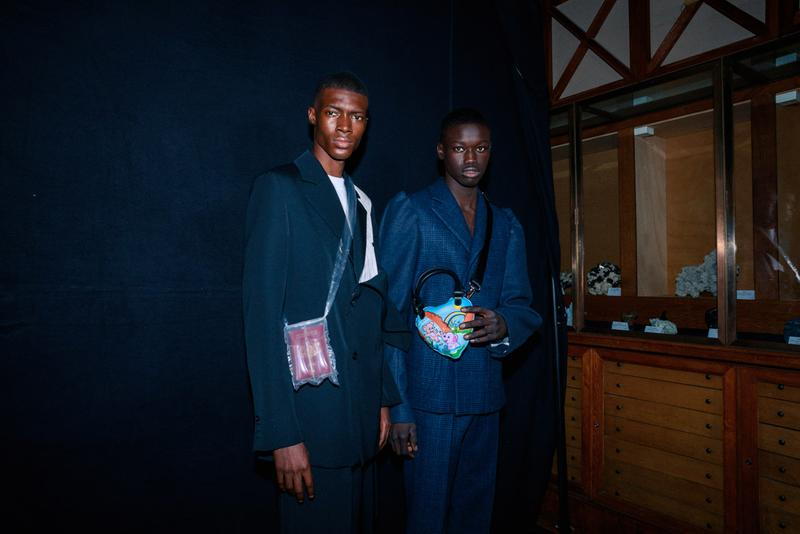 Backstage BOTTER Fall Winter 2020 2021 Paris Fashion rushemy botter lisi herrebrugh antwerp ecological eco friendly textile sustainable deconstructed nike air vapormax runway