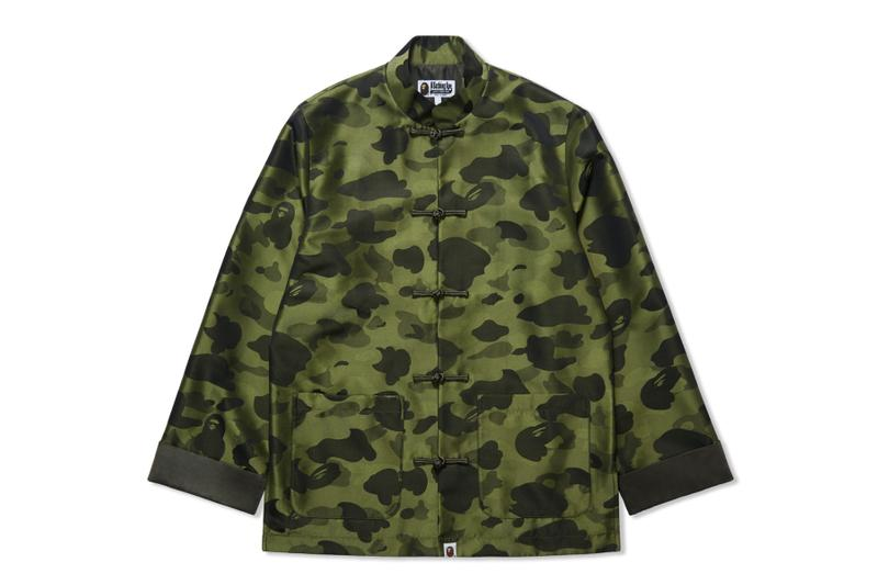 BAPE 1ST CAMO Brocade China Jacket Release Info a bathing ape Chinese new year cny releases green ape head