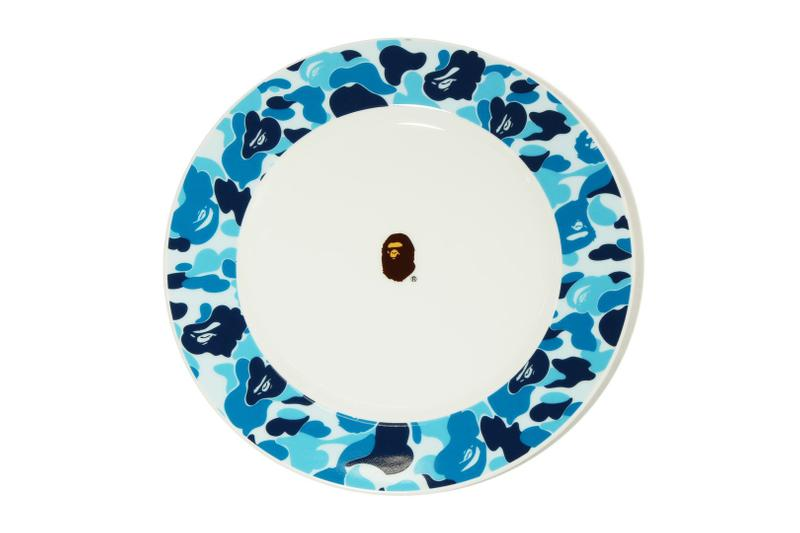 BAPE ABC CAMO Tableware a bathing ape accessories home accessories tea cups bowls place mats chopstick holders pink green blue