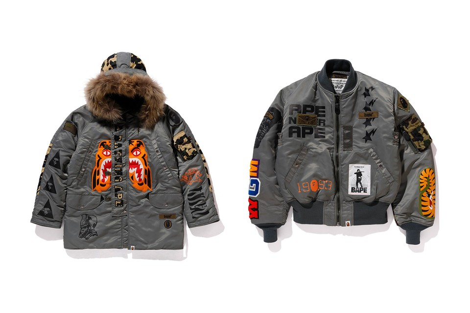 BAPE Teams With Alpha Industries for Heavily Branded MA-1 & N3-B Capsule