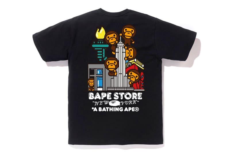 BAPE City-Specific T-Shirt Line a bathing ape fashion capitals hong kong tokyo new york los Angeles Baby Milo ape head abc camo print