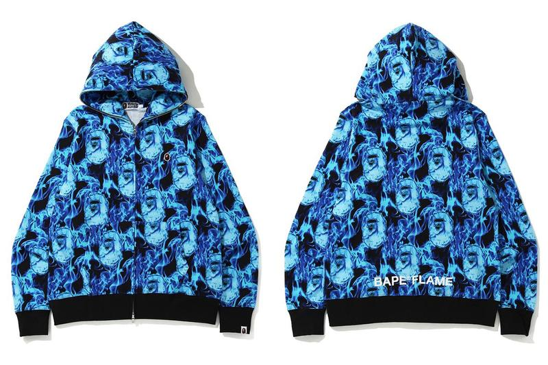 BAPE Introduces New Flame Pattern for SS20 a bathing ape spring summer 2020 hoodies pants skateboards skate decks