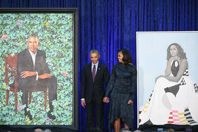 barack obama michelle presidential portraits us museum tour united states kehinde wiley amy sherald national portrait gallery brooklyn museum art institute of chicago los angeles county museum of art high museum atlanta museum of fine arts houston