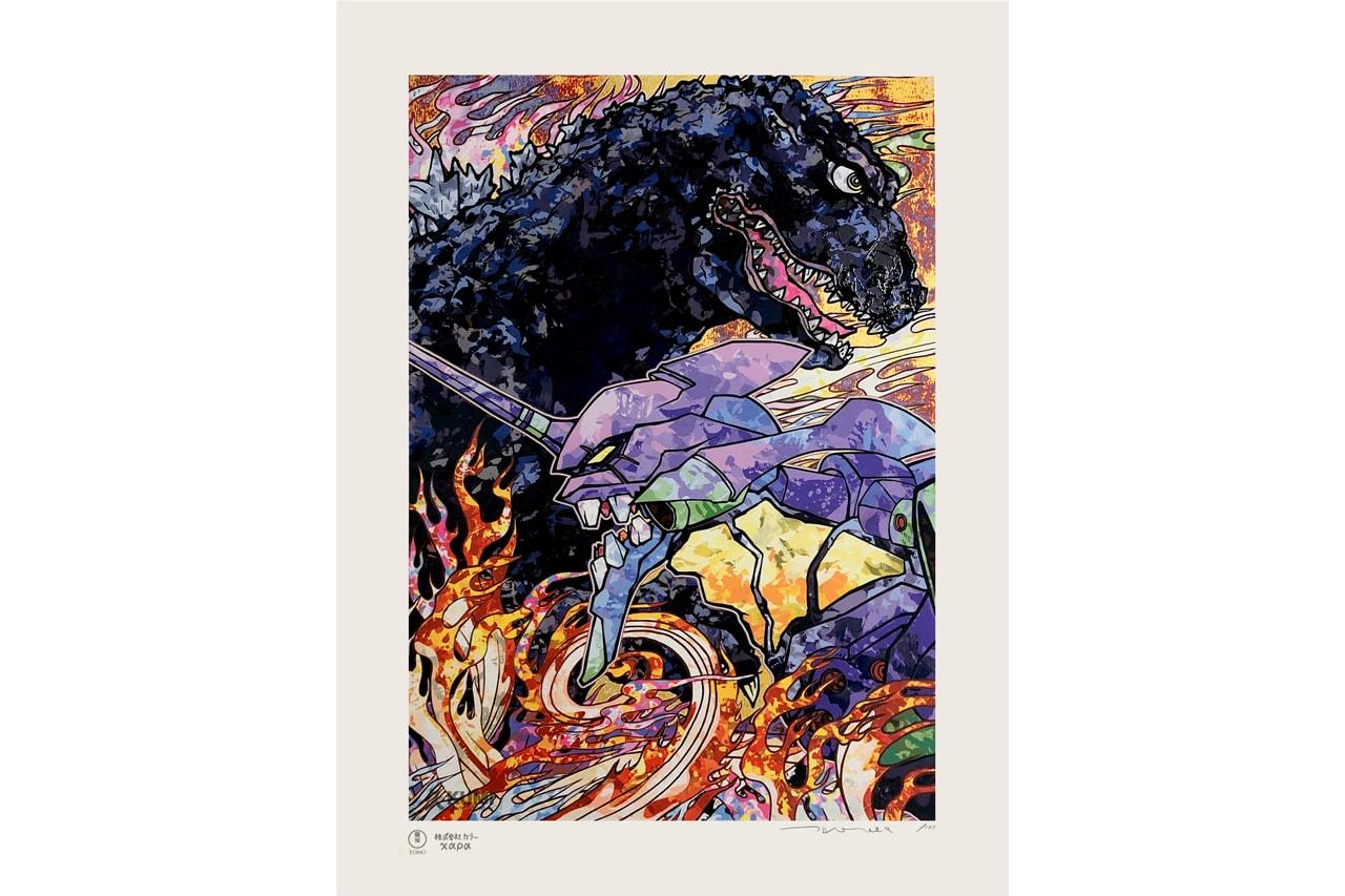 best artworks releasing kumi contemporary takashi murakami godzilla artworks javier calleja nanzuka underground artworks collectibles editions luke chiswell tappan collective jess johnson prints lithographs