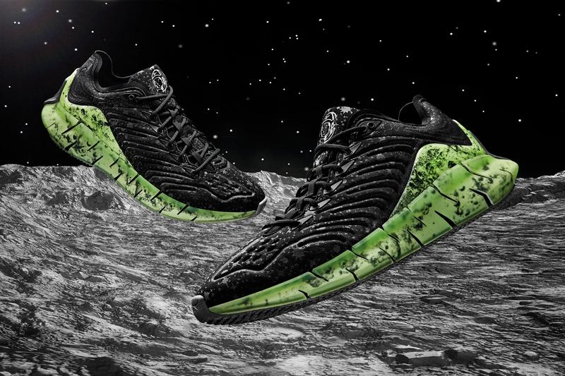 billionaire boys club bbc reebok zig kinetica moon surface print fw5283 black green grey release date info photos price