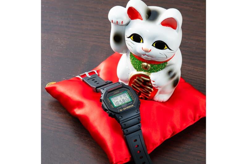 "BlackEyePatch x Casio G-Shock ""MANEKINEKO"" Capsule  release info price details   DW-5600TMN-1JR GA-100TMN-1AJR"