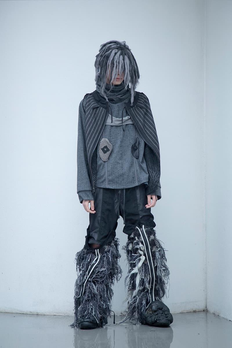 "BLACKMERLE FW20 ""A.C. 006"" Collection Lookbook dystopian apocalyptic fashion terry shin editorials lookbook technical maximalism neo sci fi"