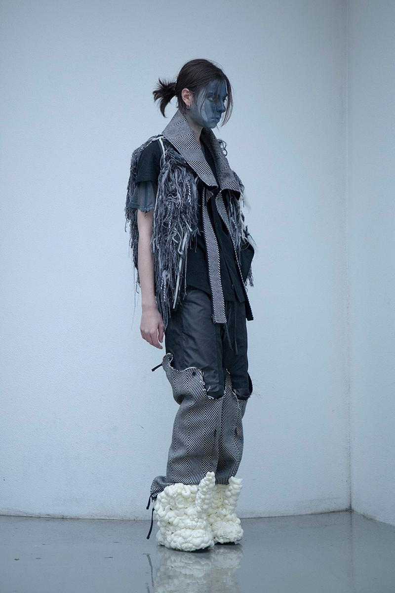 "BLACKMERLE FW20 ""A.C. 006"" Collection Lookbook dystopian apocalyptic fashion terry shin editorials lookbook technical maximalism neo sci fi"